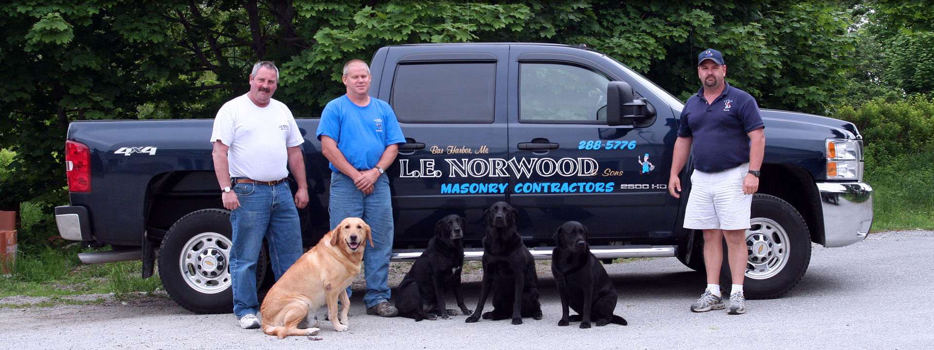 L E  Norwood & Sons, Maine Masonry Services, Brickwork, Stonework
